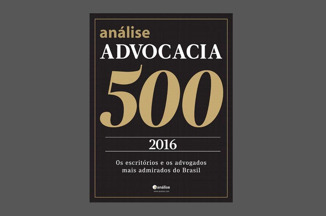 VG&P entre os mais admirados do Brasil na Análise Advocacia 2016