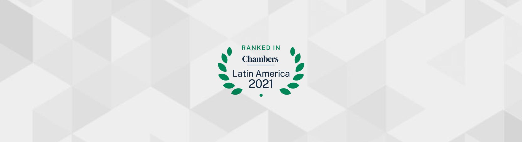 Vernalha Guimarães e Pereira no ranking britânico Chambers Latin America 2021
