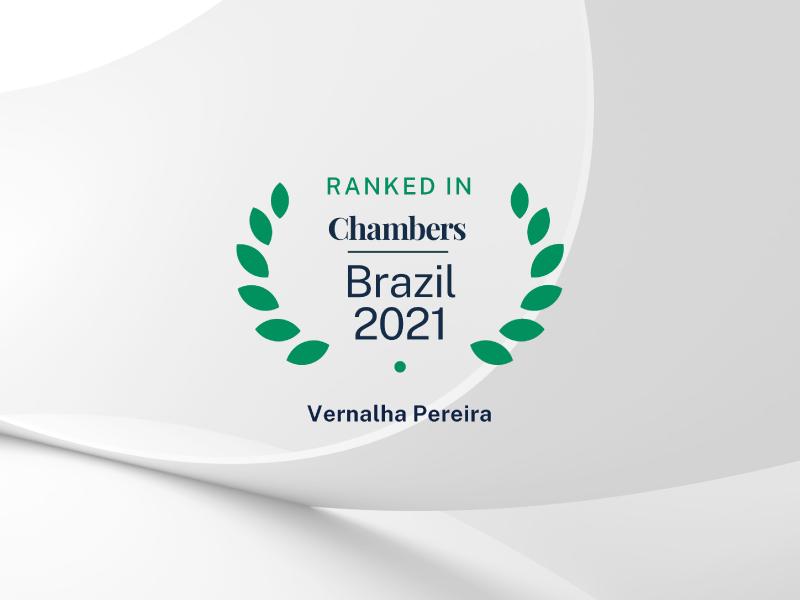 Fomos reconhecidos pelo guia Chambers Brazil 2021 como um dos escritórios jurídicos mais recomendados do país
